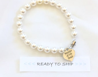 RTS Mother of the Bride Pearl Strand Bracelet, Mothers gift, gift for mother of the bride, mother of the bride jewelry