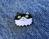 Soft Enamel Lapel Pin Cat