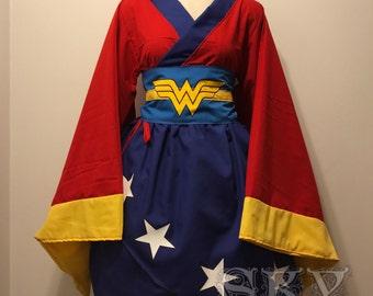 Wonder Woman Kimono Dress