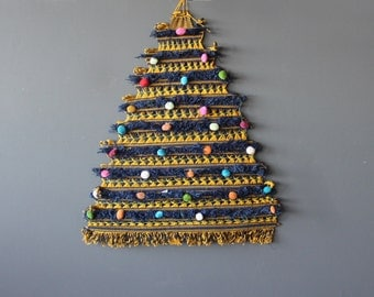 Large Hand Woven Macrame Weaving Christmas Tree