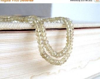 Final 51% off Sale Lemon Quartz Gemstone  Faceted Rondelle 3.5mm 1/2 strand 80 beads Wholesale