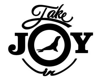 Take Joy In Sea Lions Decal