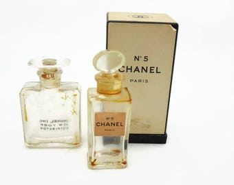 Vintage Chanel No 5 Perfume Bottle - Mini Original Box