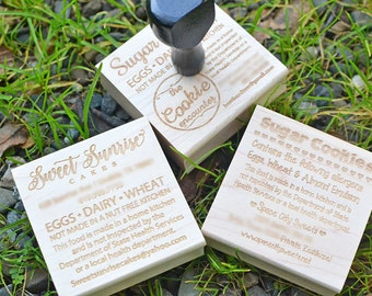 Cottage Law Rubber Stamp - Baking Stamp - Bakers Stamp - Customized Stamp - Personalized Stamp