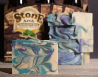 Scottish Ale Beer Soap | Natural  Soap | Patchouli Cedarood Spearmint Oil | Beer Soap | Stone Arch Beer | Gifts for Men | Fatty's Soap Co.