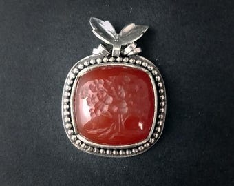Red Oak - Carnelian Gem Intaglio of a Tree