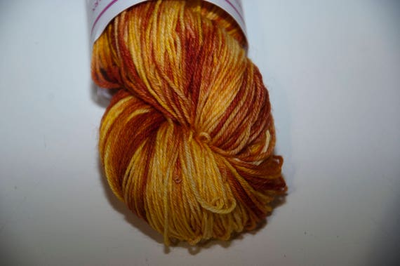 Hand-Dyed Yarn in Banoffee Pie Colourway Sock Yarn Superwash Wool/Nylon Tootsie Base