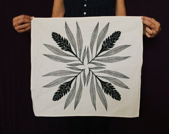 2 - 100% Cotton Screen Printed Tea Towel