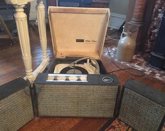 Webcor vintage portable record player.