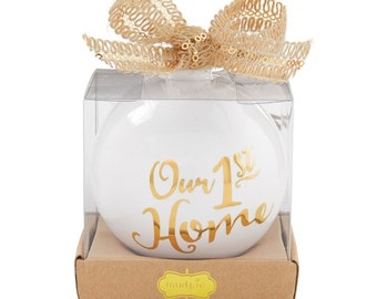 """Personalized """"Our First Home""""  Ornament"""