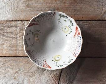 Antique Chinese Porcelain Bowl, Porcelain Bowl, Table Wares, Baskets and Bowls, Honeycomb Pattern, Vintage Bowl, Vintage Porcelain Bowl
