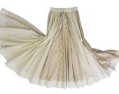 Full Circle Long Gypsy Wide Panel Cotton Skirt
