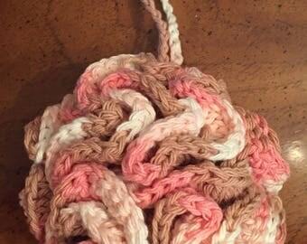 Crochet Bath / Shower Puff 100% Cotton Free Shipping