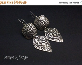 ON SALE ON Sale Substantial Sterling Silver Earrings - Designs by Suzyn
