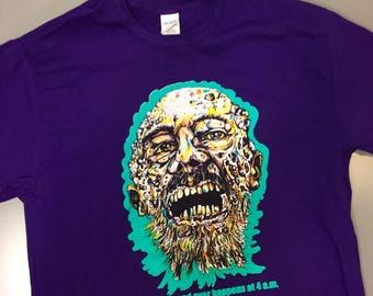 Zombie Maggot Face Tee Shirt