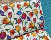 FQ ~ Half Yard ~ By the Yard ~ Tulips ~ Marblehead Butterflies Are Free Collection by Ro Gregg for Fabri-Quilt Cotton Quilt