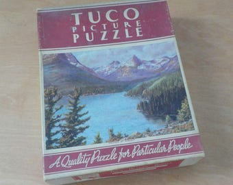 Vintage Tuco Picture Puzzle • Beautiful Lake St. Mary • Mountain Lake Scene