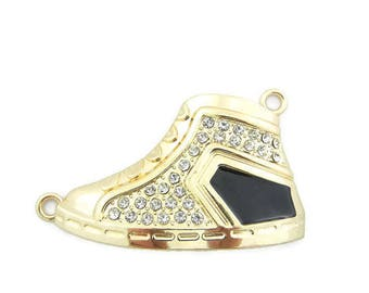 Extra Large Double Link Gold-tone Sneaker Pendant