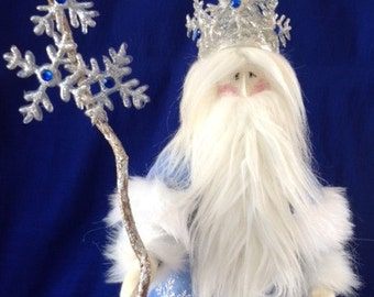 Collectible Original Prototype Handmade Winter Wizard Art Doll