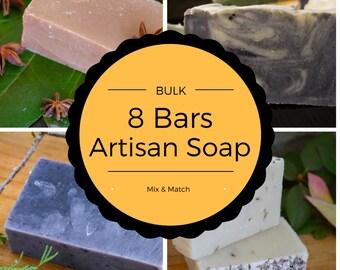 Bulk Discount 8 Soaps for 40-handmade soap/ulster soaps/organic soap/bar soap/face soap/artisan soap/homemade soap/natural soap/exfoliating