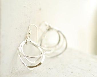 Small Hoop Earrings, Delicate Dainty Earrings, Sterling Silver Jewelry