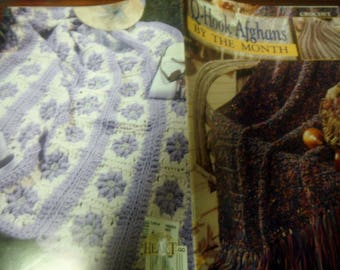Afghan Crochet Pattern Leaflet Q Hook Afghans By The Month Leisure Arts 3138 Crocheting Patterns