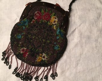 Vintage 1920's flapper purse ~ repair or harvest for beads