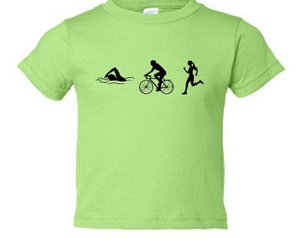 Toddler triathlon tshirt - MORE COLORS AVAILABLE