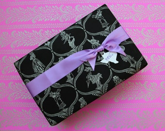 Menagerie Gift Wrap - Black, Green, or Pink with Silver Ink!