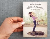 """50+ Save the date card, postcard, hand drawn detail, leaves and branches, """"Shiela Style"""""""