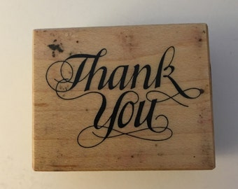 PSX Wood Mounted Rubber Stamp. Thank-you.