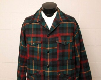 RESERVED Vintage 1970's Pendleton Wool Plaid Jacket L