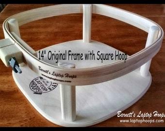 "Barnett's Laptop Hoops - Original Lap Quilting Frame 12"" or 14"""