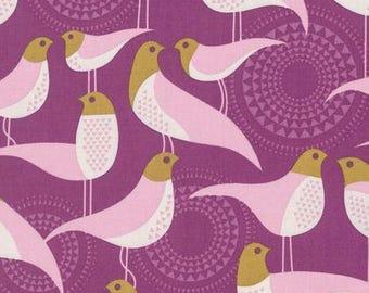 Perch Plum  - Modernist - Joel Dewberry - PWJD135.PLUMX - Quilters Cotton