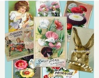 SALE SPRING JOY 02 Collage Digital Images -printable download file-