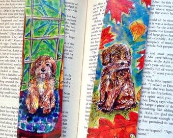 Cockapoo Bookmark, Dog Bookmarks, Spoodle Art, Dog Lover Gifts, Laminated Bookmarks, Cockapoo Gifts, Book Lover Gift, Dog Watercolor Artwork