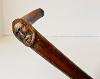 Walking Stick, Hand Carved Cane, Carved Wooden Cane, Man Cane