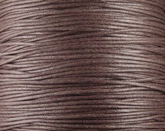 Cotton Wax Cord By the Yard Brown 1.5mm thick (1012cor02m1-5)