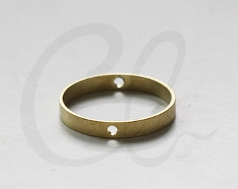 8pcs Raw Brass Round Frame - Link - Ring 26x4mm (3331C-P-436)