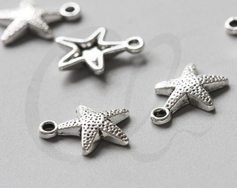 30pcs Oxidized Silver Tone Base Metal Charms-Sea Star 16.5x12mm (463Y-D-168A)