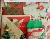 Christmas ephemera pack, Free Shipping, all vintage and/or antique, paper and picks
