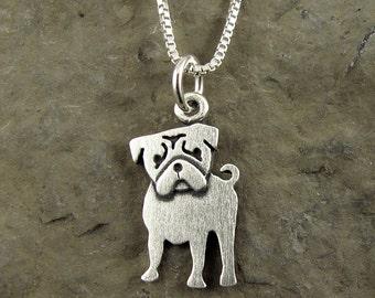 Tiny pug necklace / pendant