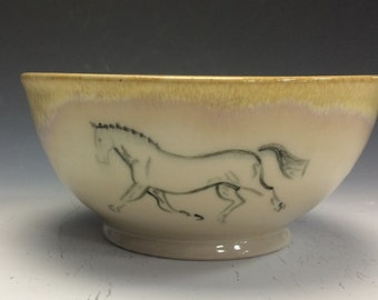 Trotting Horse Cereal Bowl- Sunshine Yellow