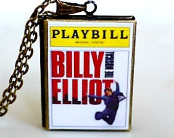 Billy Elliot, Elton John, Musical Theater, West End Musicals, Broadway Playbills, Tony Award Best Musical, Playbill Locket Necklace