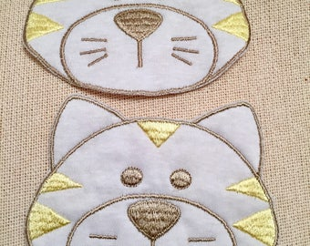 Applique, Kitty Applique, Fabric Applique, Sewing, Cat, Bag Applique, Cloth Applique, Home and Living, Accessories, Craft Supply, Embroidery
