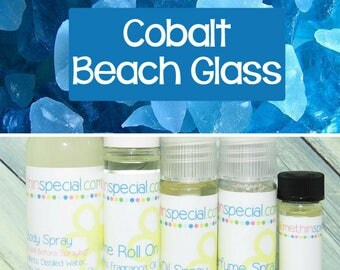 Cobalt Beach Glass Perfume, Perfume Spray, Body Spray, Perfume Roll On, Beach Glass Perfume  Oil, Dry Oil Spray, You Choose the Product