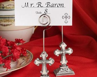 36 Elegant Cross Place Card Holders Religious Bridal Shower Wedding Favors Decor Supplies Jenuine Crafts