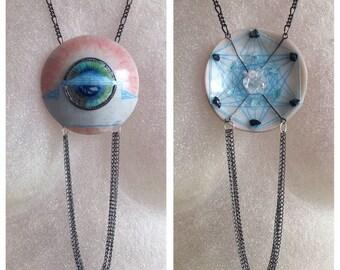 Peace Portal Crystal Grid Necklace (3D)