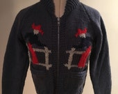 "Ladies 1950s style Cowichan Cowboy Cardigan/Jacket - Size 34"" chest"