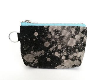 UPCYCLED Galaxy Coin Purse. Zipper Pouch. Recycled Denim Change Purse. Keyring Pouch. Ready To Ship.